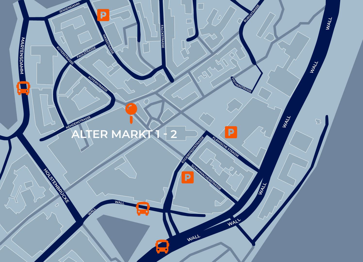 Augenzentrum ONE Karte für die Anfahrt